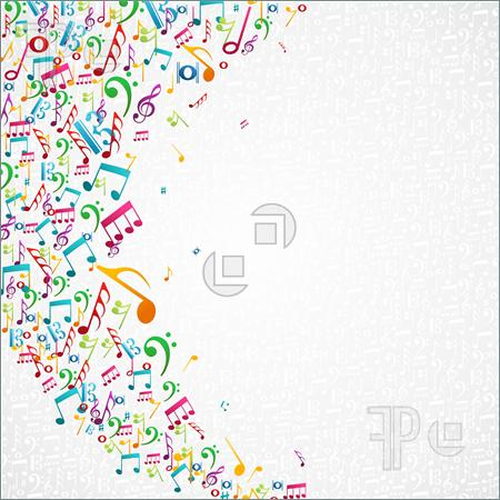 9 Colorful Music Note Designs Images - Colorful Music ...
