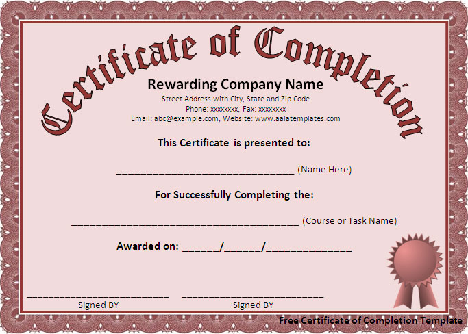 12 Certificate Templates Free Downloads Images