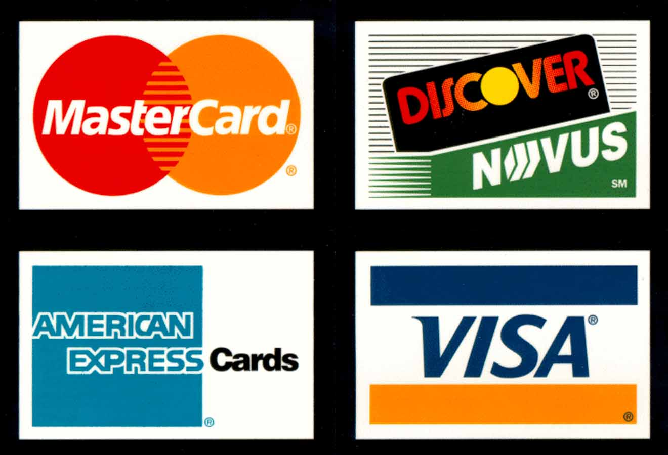 10 Credit Card Logos Vector Images