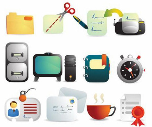 10 Office Equipment Icons Images