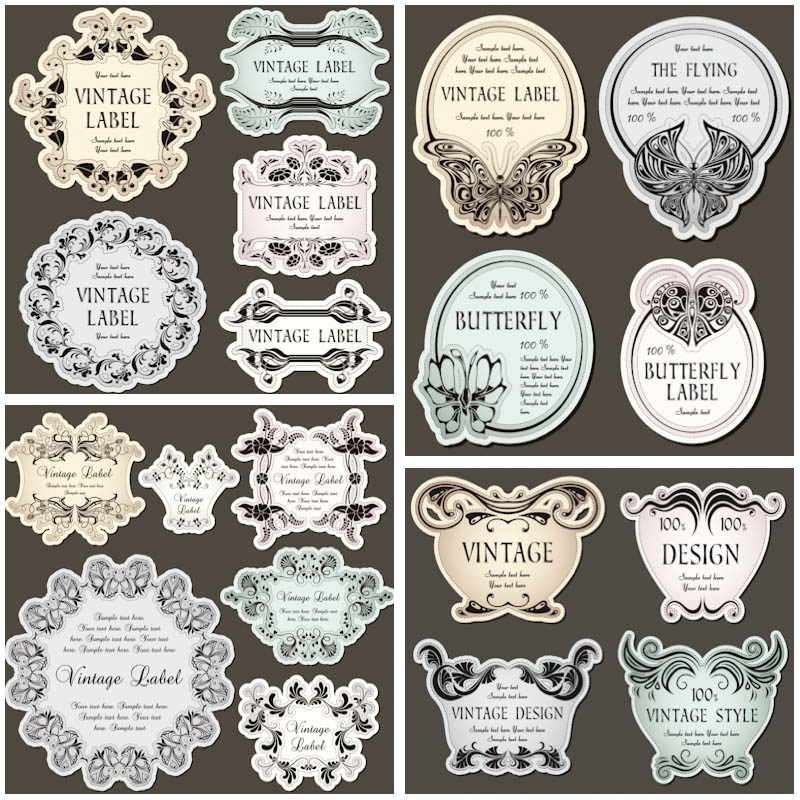 Decorative Vintage Labels Free Template