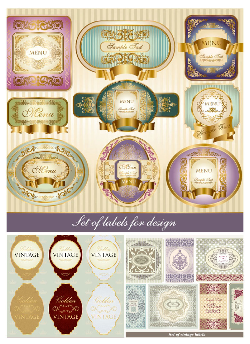 Decorative Vintage Vector Labels