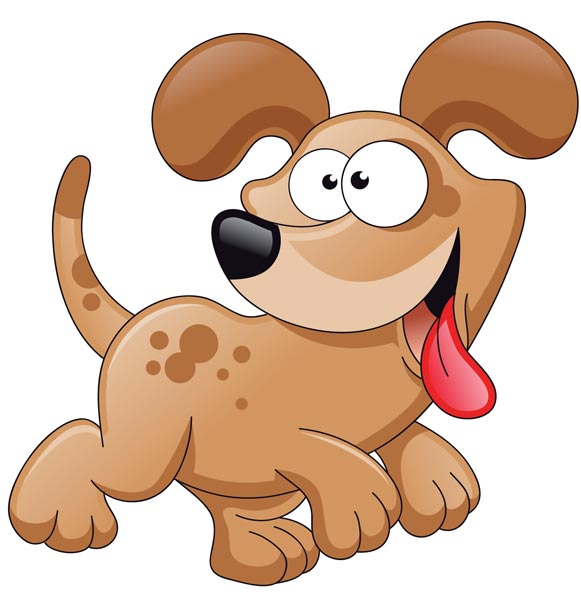 11 Cartoon Dog Vector Images