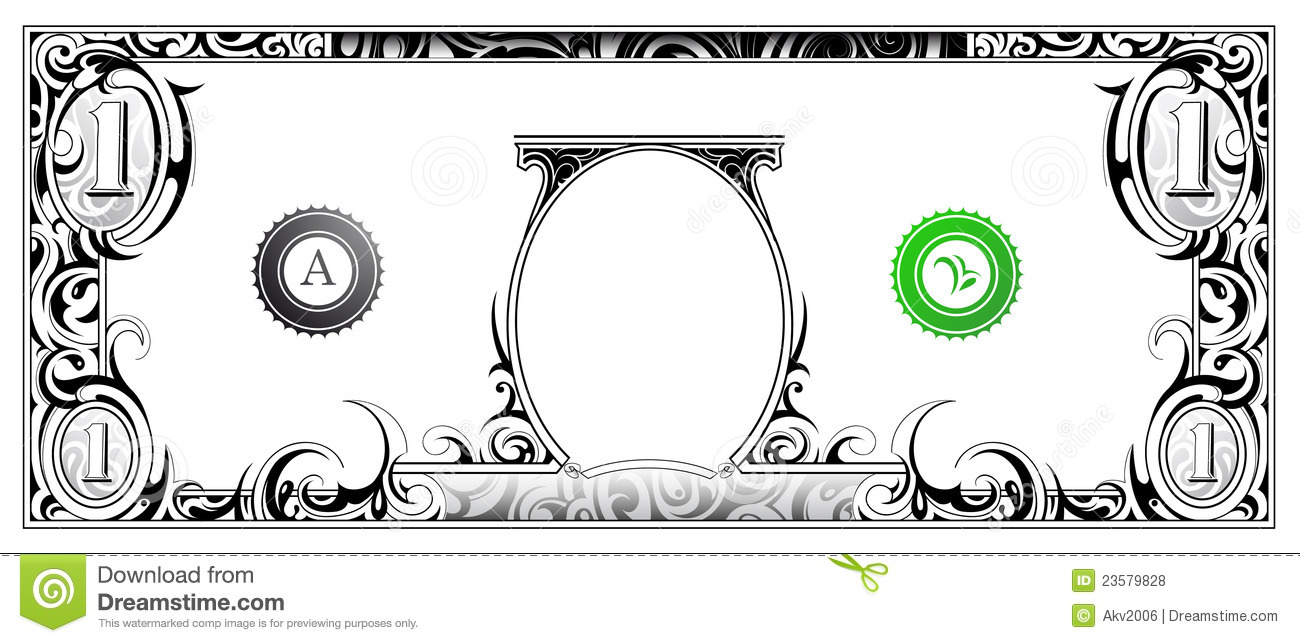 Dollar Bill Template Clip Art