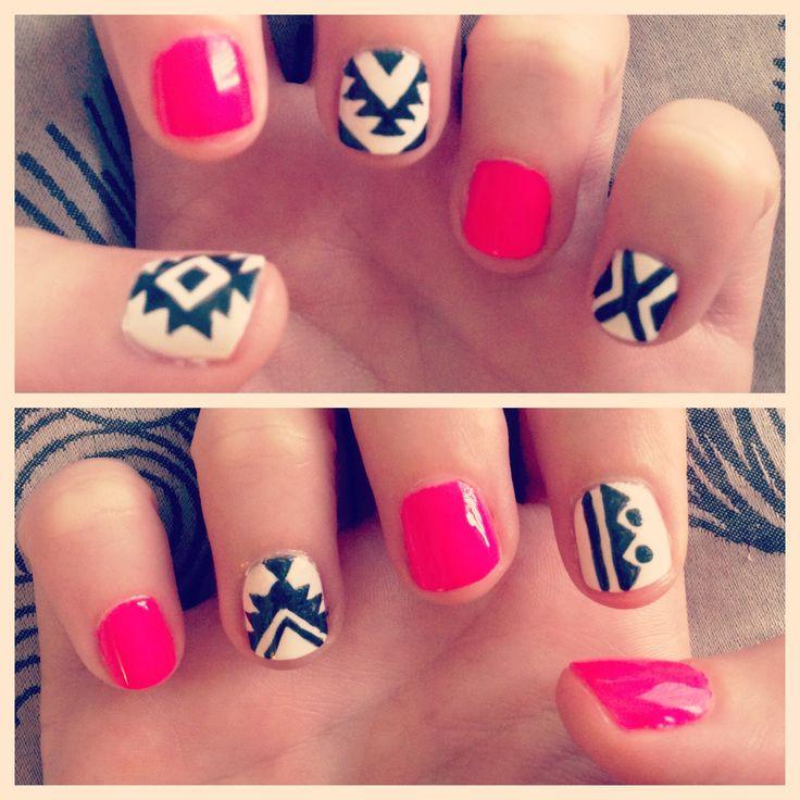 20 Tribal Easy Nail Designs Images