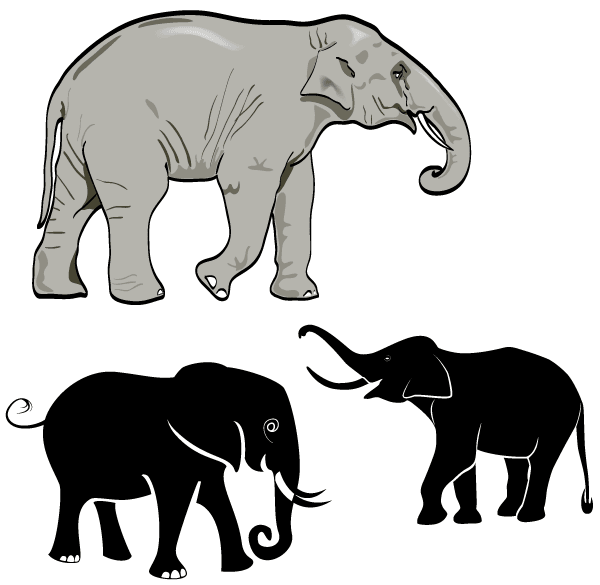 16 Elephant Vector Art Images