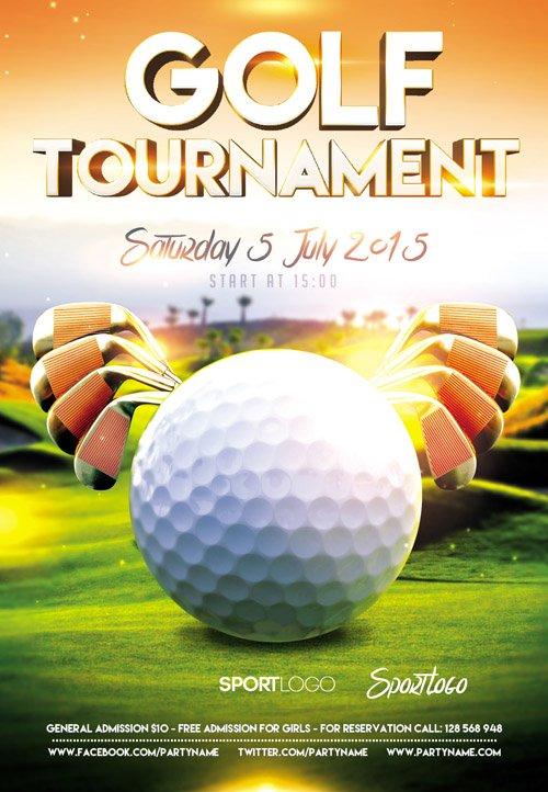 Event Flyer Template Tournament Golf