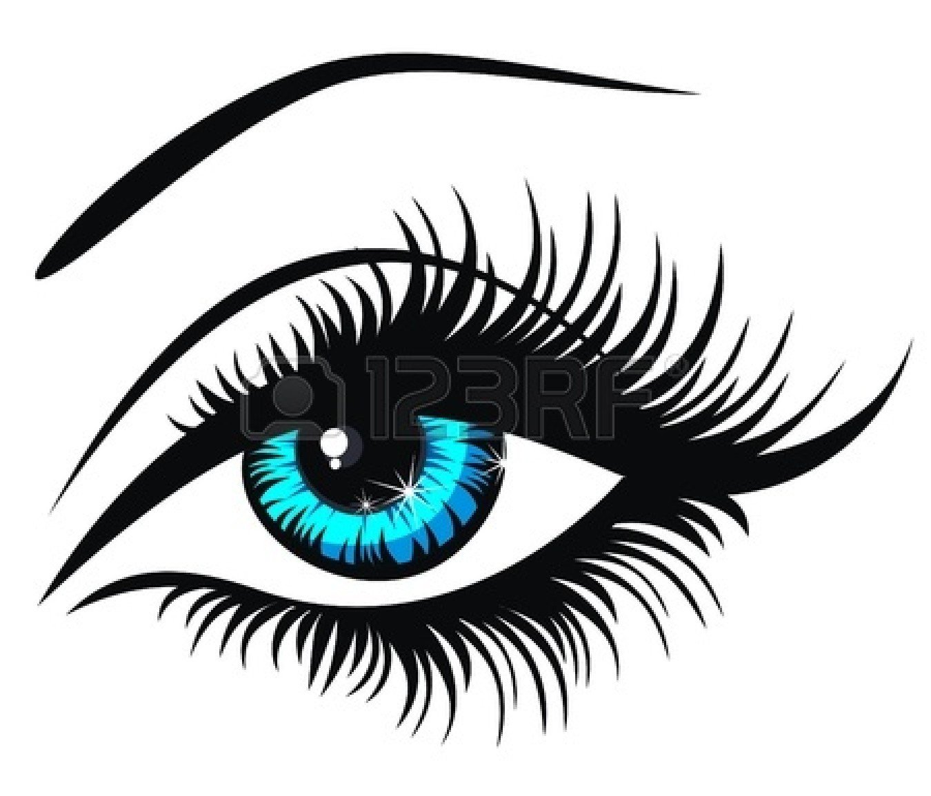 9 Vector Eye Lashes Clip Art Images