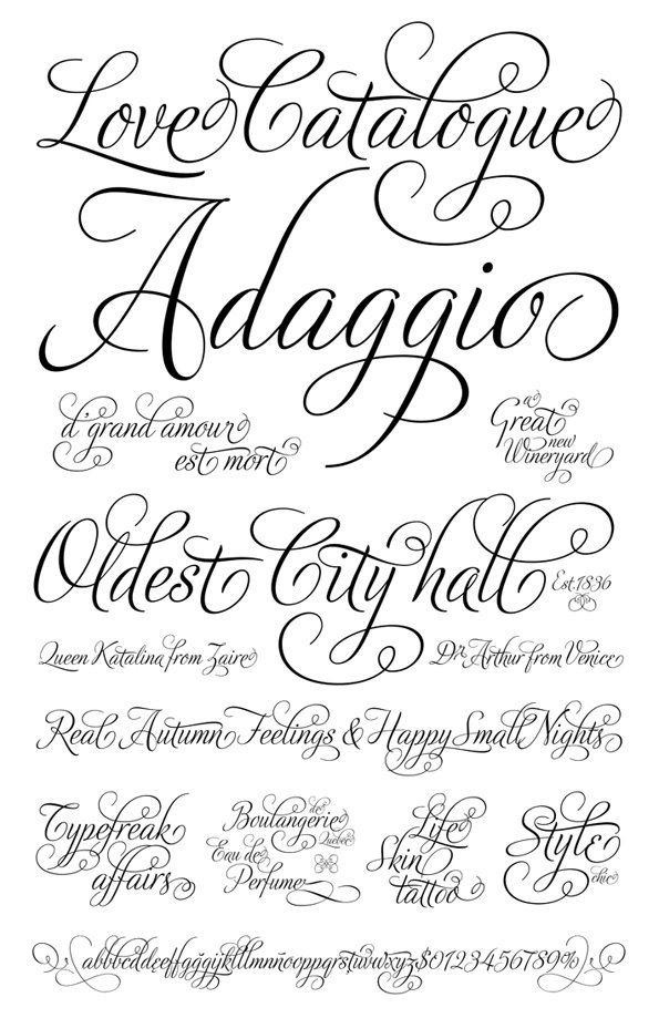 Fancy Wedding Script Fonts