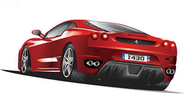 13 Vector Cars Ferrari Red Images