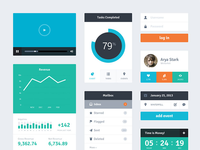 16 Flat UI Design Inspiration Images
