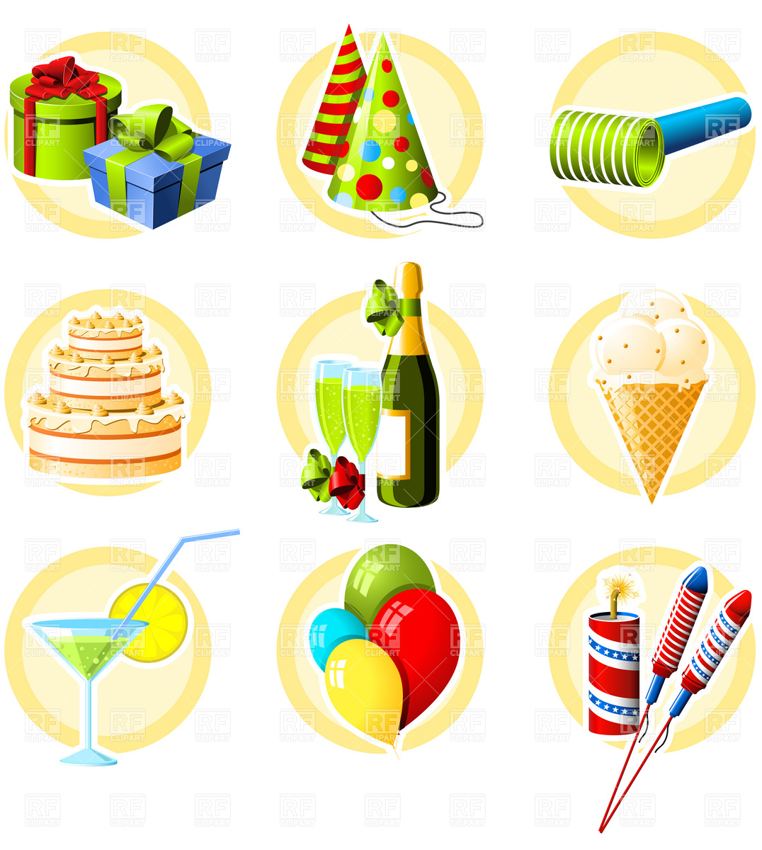 Free Clip Art Birthday Celebration