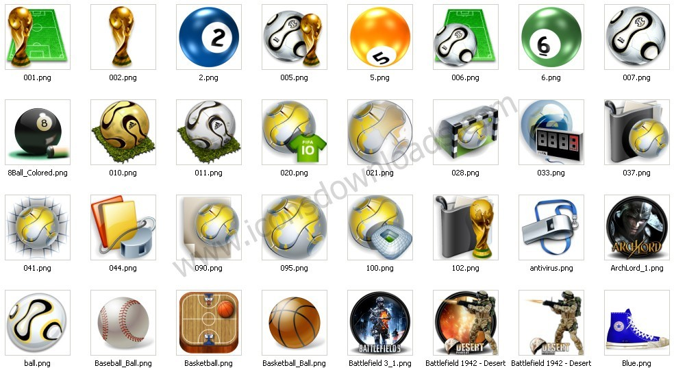 Free Desktop Sports Icons