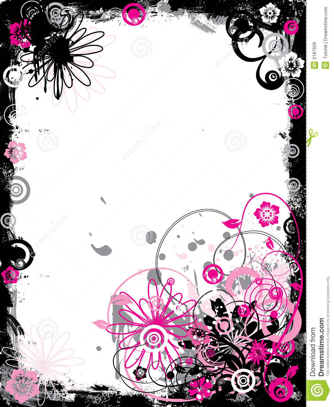 18 Flower Border Vector Images