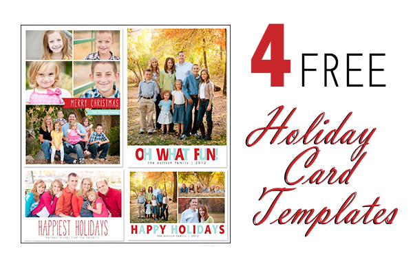Free Holiday Card Photoshop Templates