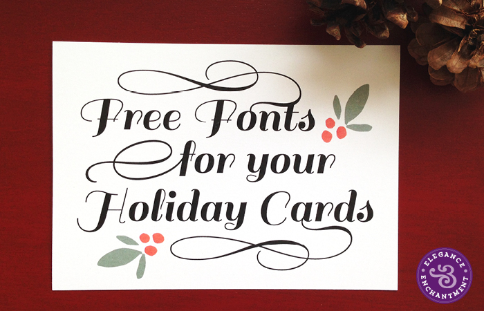 15 Free Fonts For Christmas Cards Images