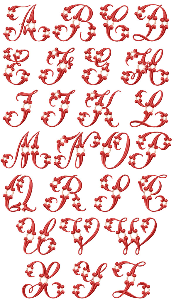 14 Machine Embroidery Designs Applique Alphabet Images - Free