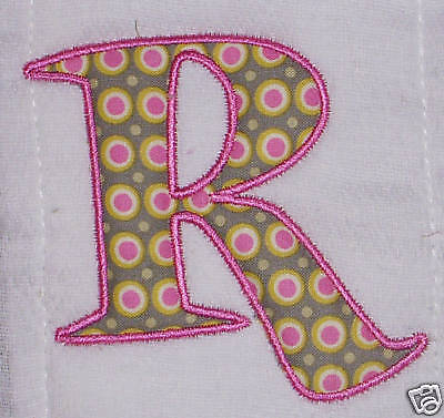 14 Machine Embroidery Designs Applique Alphabet Images
