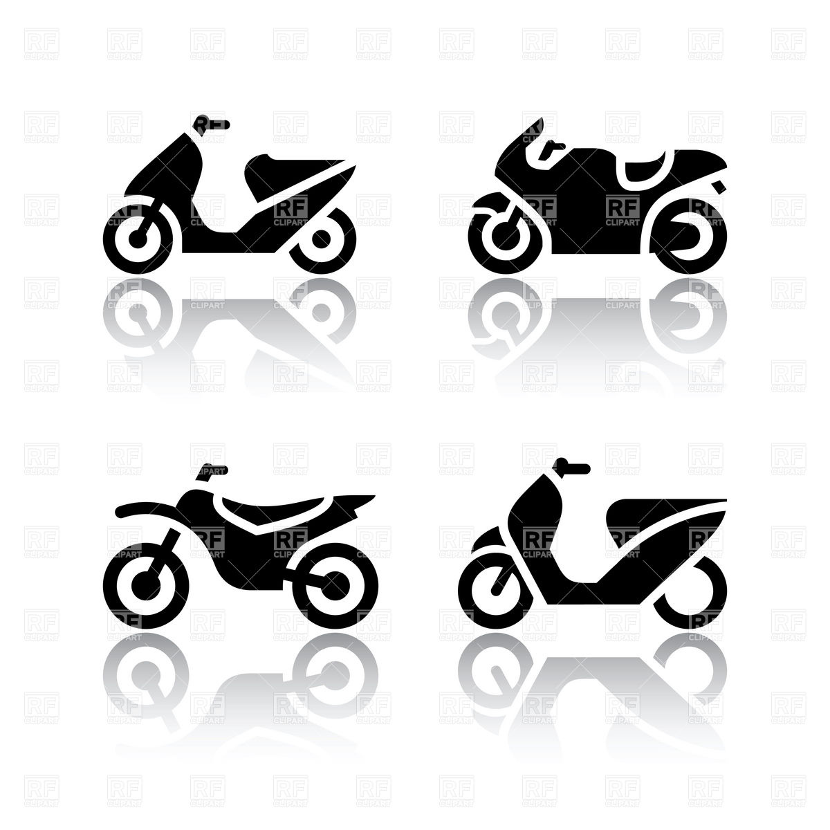 17 Motorcycle Motor Vector Images Motorcycle Silhouette