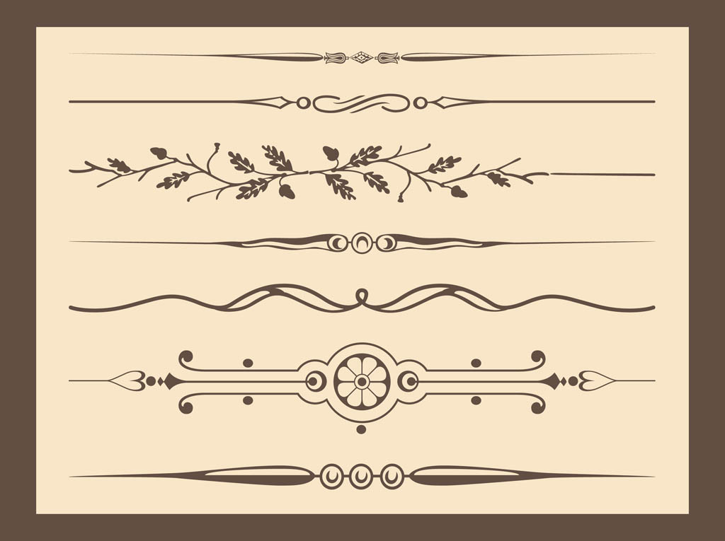 Free Ornament Vector Lines