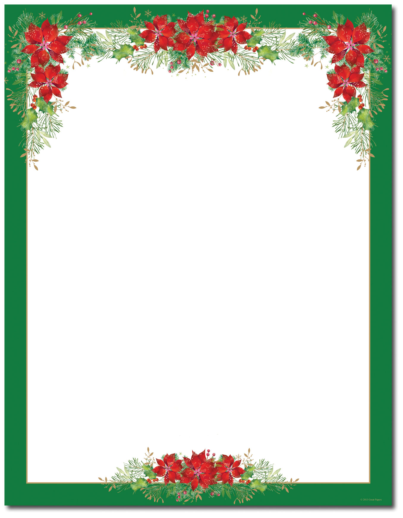 image regarding Free Printable Stationary Borders named 15 Poinsettia Webpage Border Options Pics - Cost-free Printable