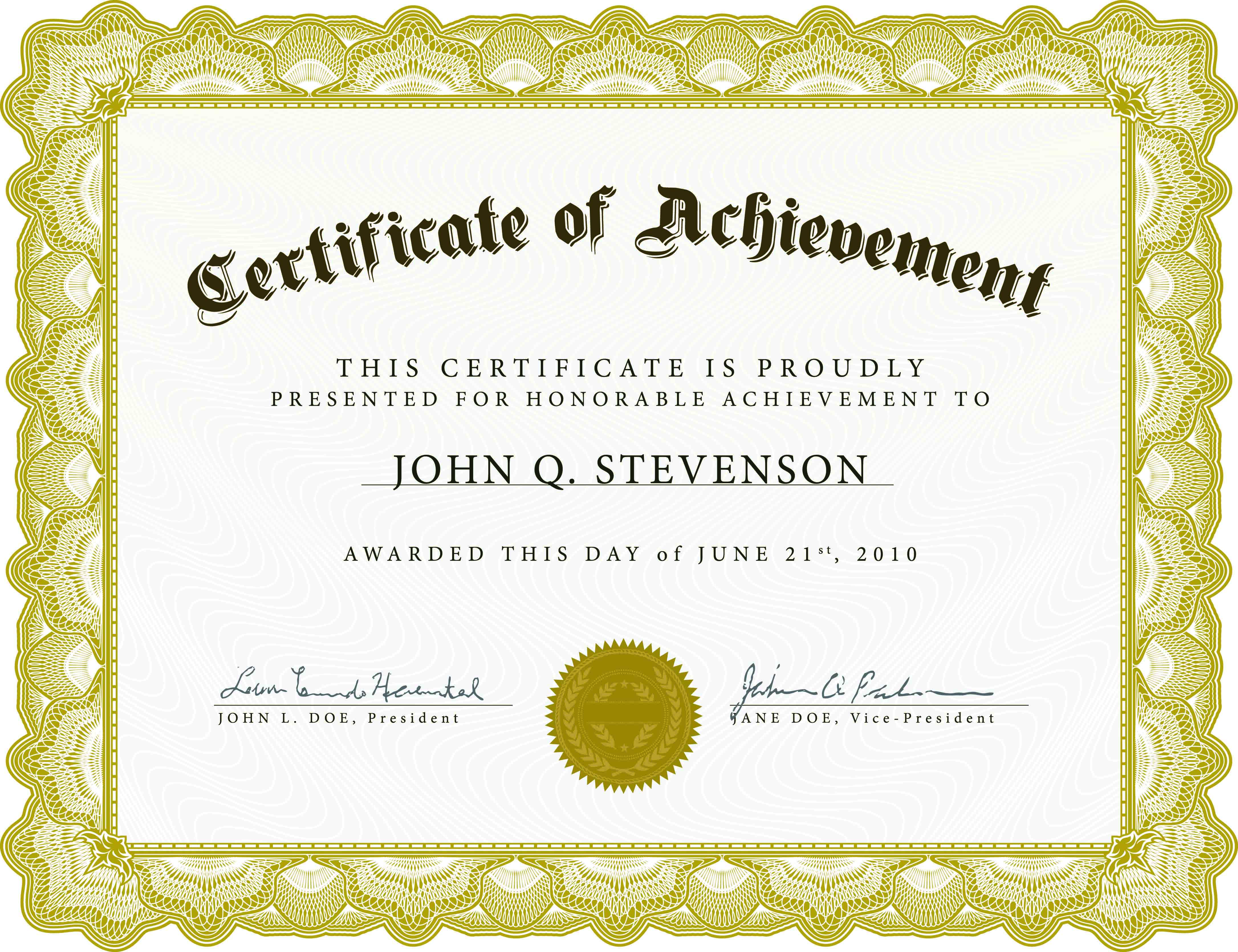 21 Certificate Templates Free Downloads Images - Completion Pertaining To Free Printable Blank Award Certificate Templates