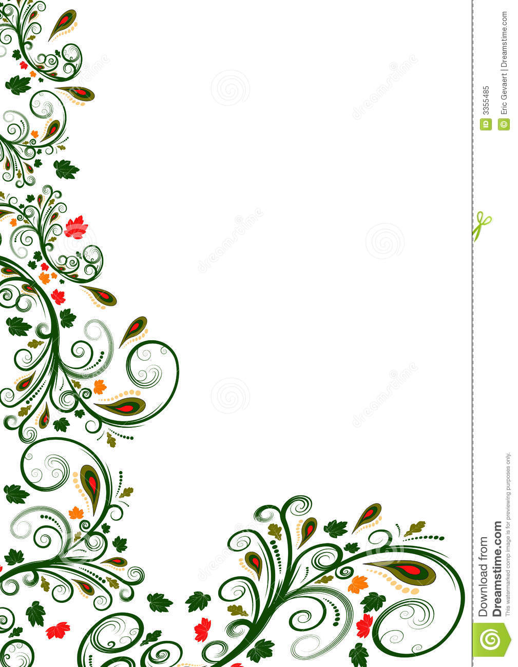 18 Flower Border Vector Images - Free Floral Vector ...