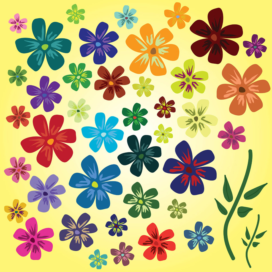 20 Spring Flowers Vector Free Images
