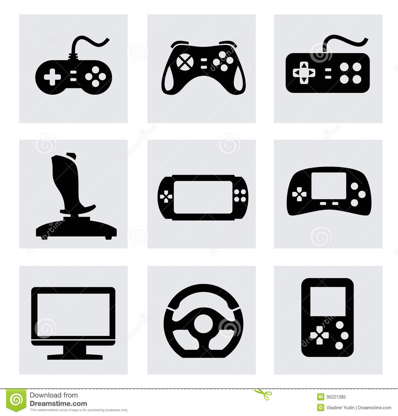 13 Joystick Game Controller Vector Images