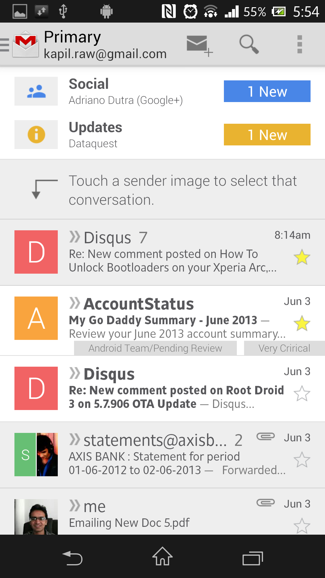 Gmail App Android