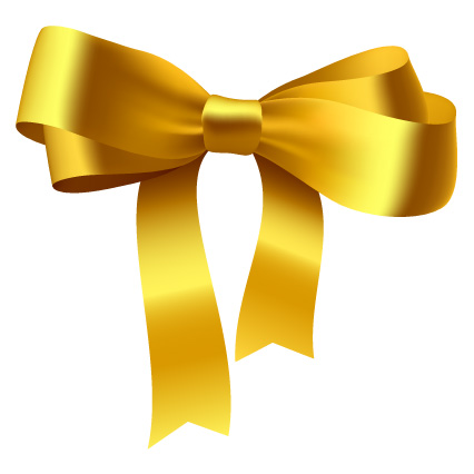 11 Gold Ribbon Bow Vector Images