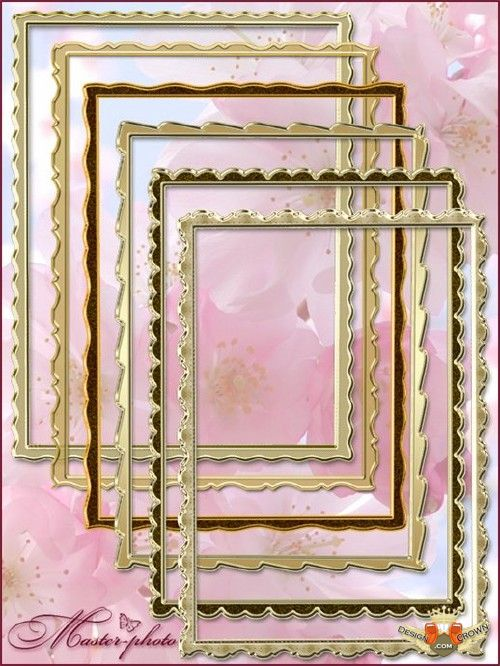 Golden Rectangular Frame