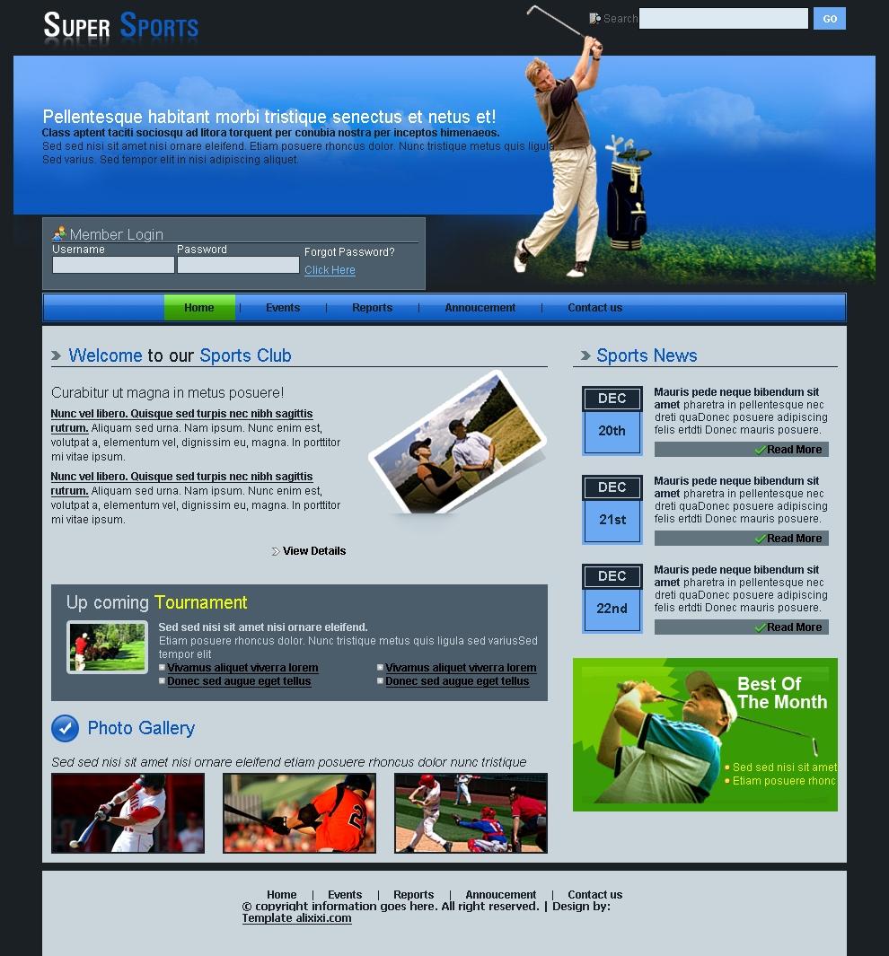 Golf Templates Free Downloads