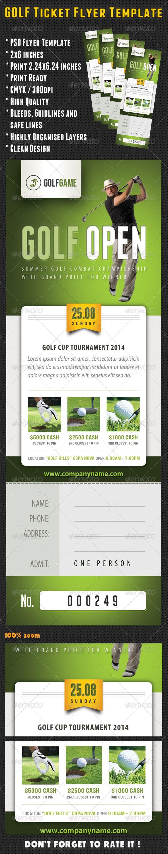 Golf Ticket Template