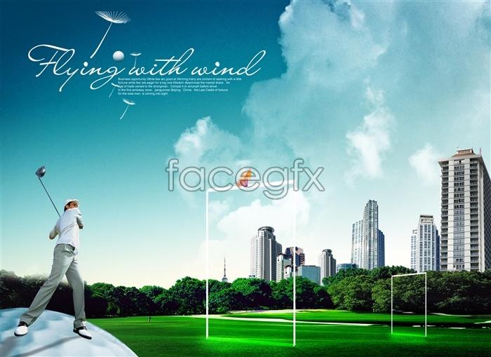 Golf Wedding Backgrounds for Photoshop