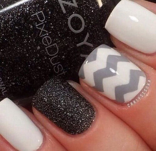 16 awesome nail design ideas images awesome nail designs cool gray and black nail designs prinsesfo Choice Image