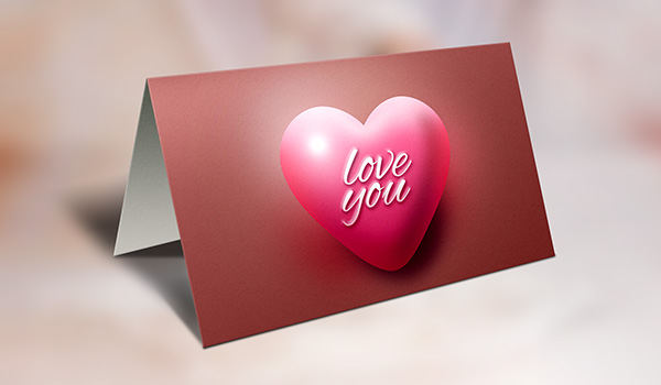 9 Free Greeting Card Mockup PSD Images