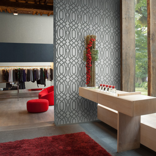 Grey Modern Room Wallpaper Designs