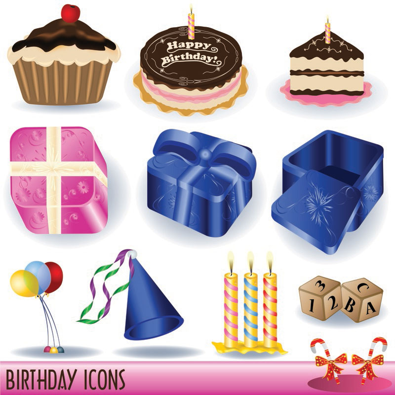 Happy Birthday Clip Art Vector