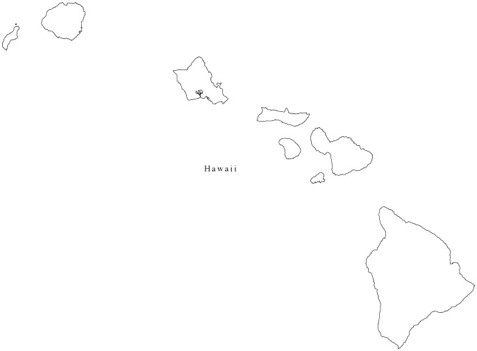 15 Hawaii Map Outline Vector Images Hawaii Map Outline Clip Art