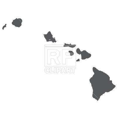 15 Hawaii Map Outline Vector Images