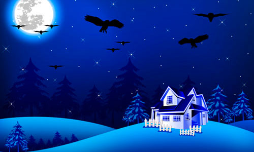 16 Night Scenery Vector Images