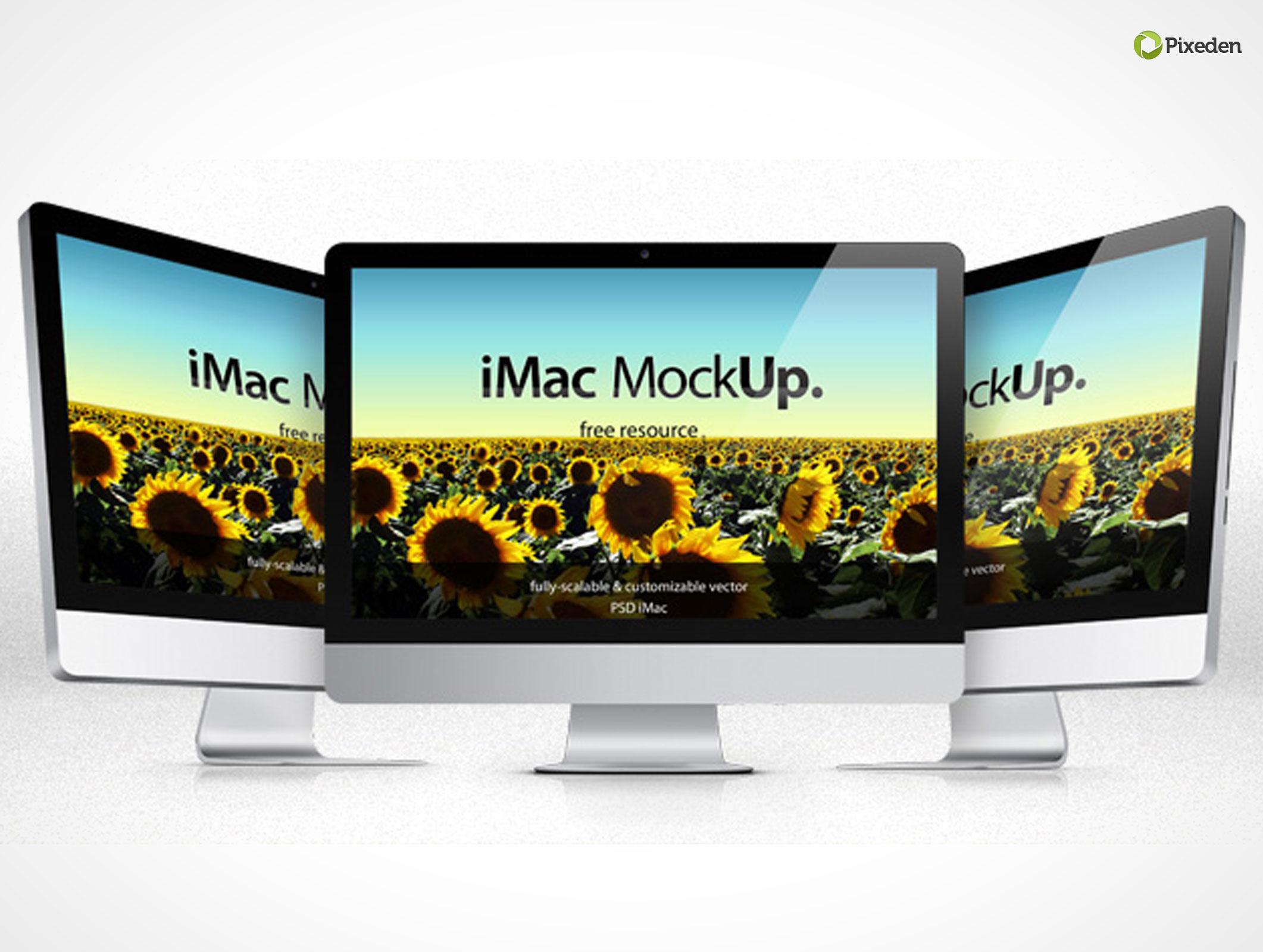 iMac Mockup PSD Template