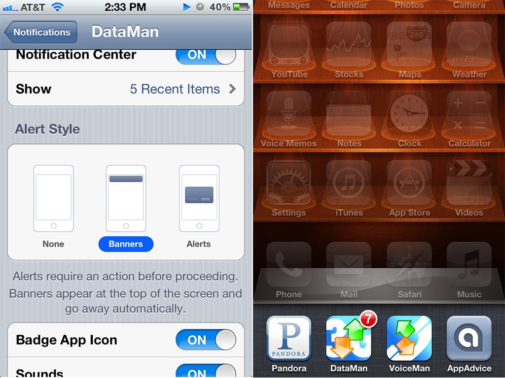 iPhone Badge App Icon