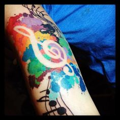 Love Music Tattoo Colors