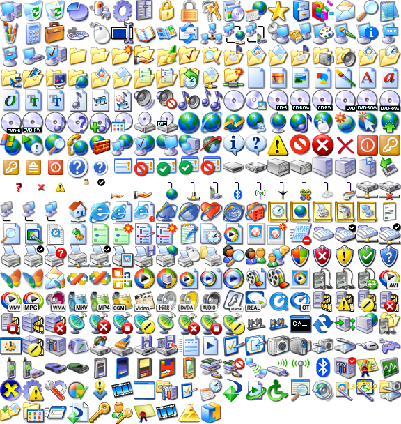 Microsoft Windows XP Icons