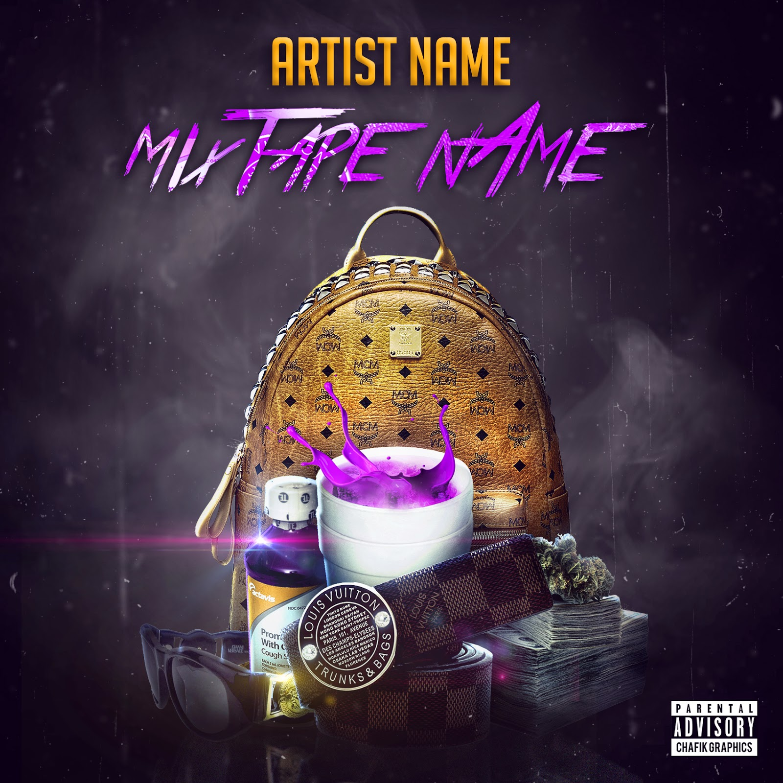 Mixtape Cover Template Free Download