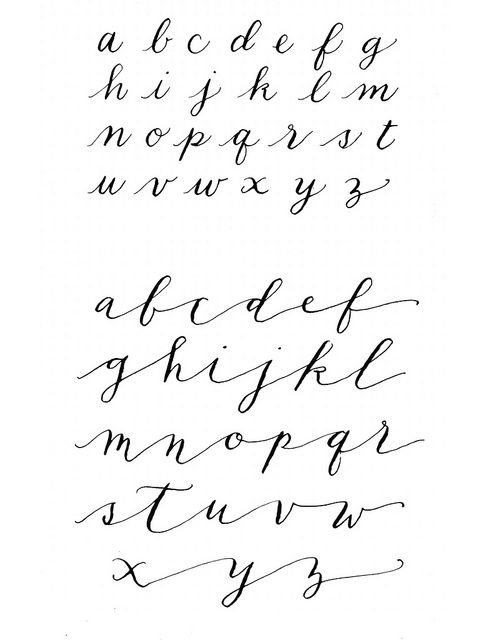 Modern Calligraphy Alphabet Fonts