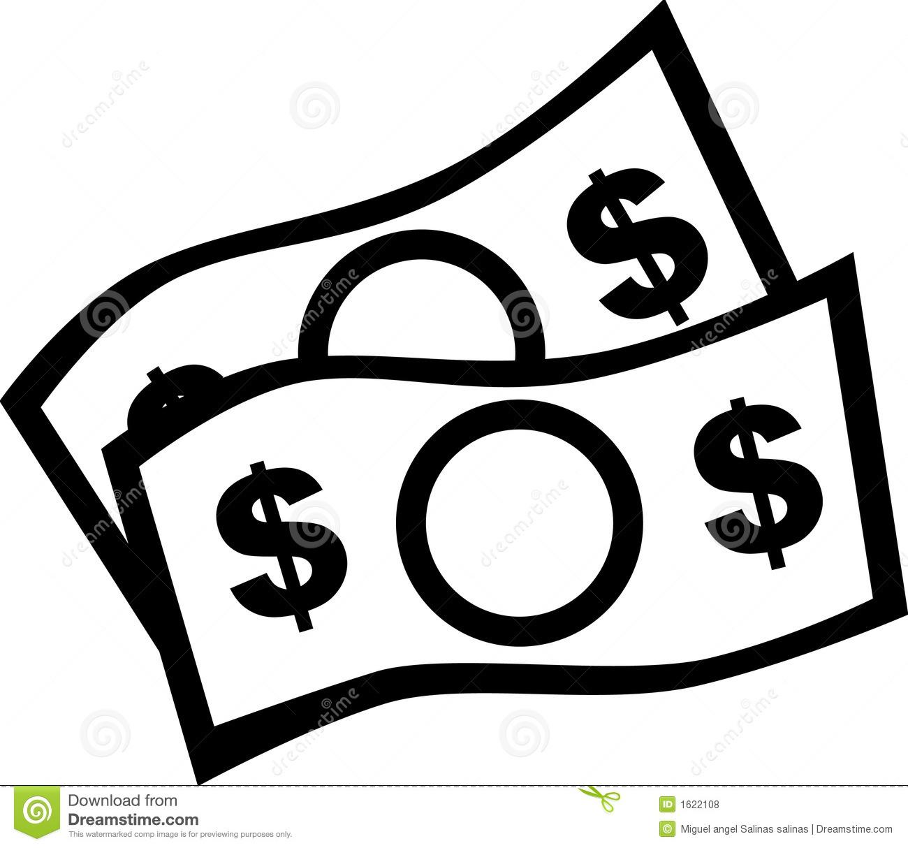 Money Clip Art Black and White Vector