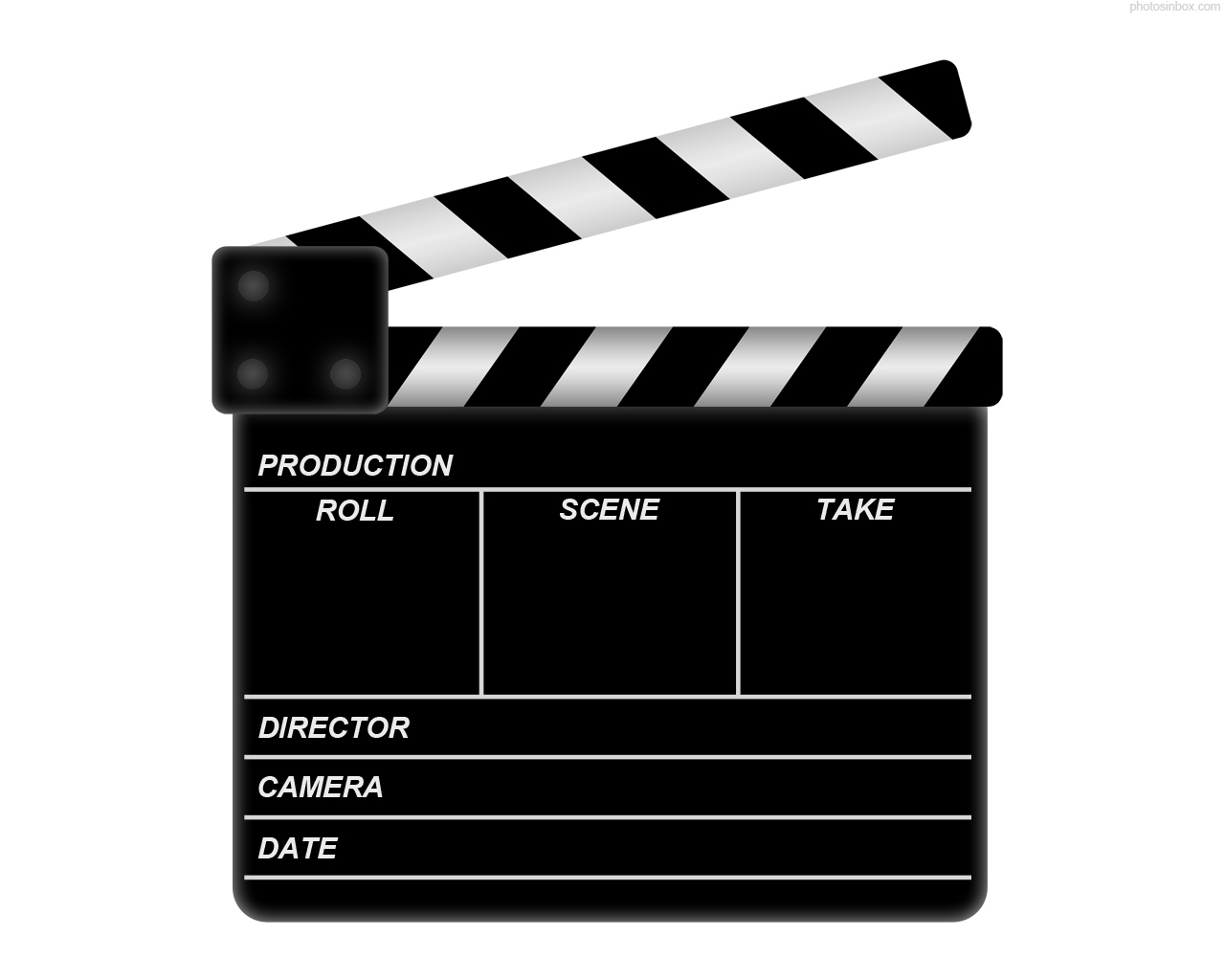 Movie clapboard make